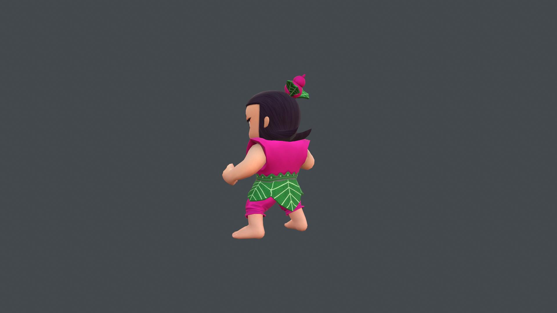 次世代材质有绑定和动画的葫芦娃3D模型
