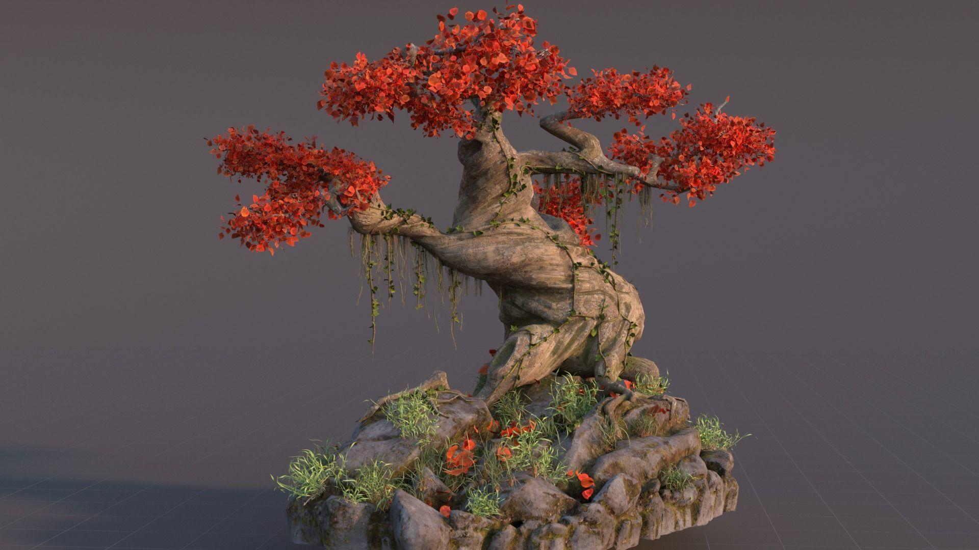 次世代材质魔幻风格大树,古树,神树3D模型